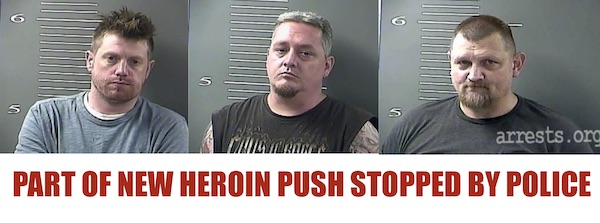 THREE ARRESTED FOLLOWING DRUG BUST THURSDAY IN PAINTSVILLE